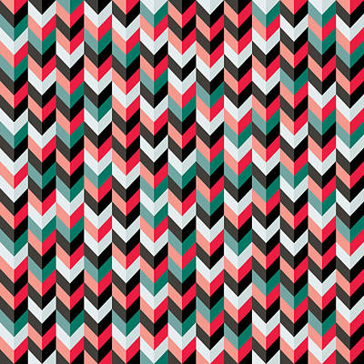 Digital Art - Chevron by Mike Taylor