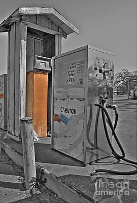 Gas Photograph - Chevron Pumps by Hilton Barlow