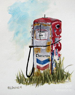 Chevron Art Print by Sandy Linden