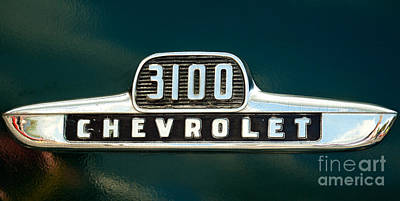 Photograph - Chevy 3100  Pickup Emblem by Mark Dodd