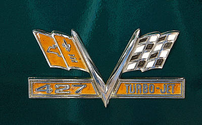 Photograph - Chevy 427 Turbo Jet by Charles Beeler