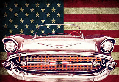Chevy Bel Air 57 Art Print by Diego Abelenda