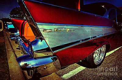 Photograph - Chevy Bel Air Vintage Car by Danny Hooks