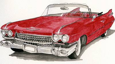Painting -  'caddy'-59 by Eva Ason