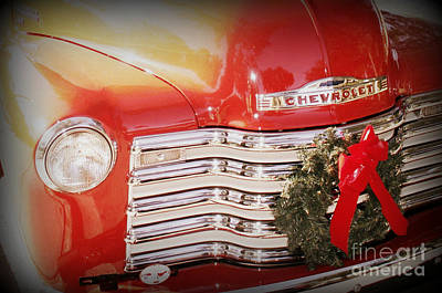 Photograph - Chevy Christmas by Valerie Reeves