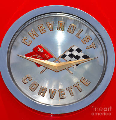 Photograph - Chevy Corvette Badge by Mark Spearman