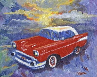 1950s Painting - Chevy Dreams by Linda Mears