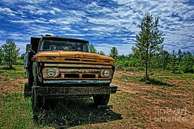 Chevy Dump Truck 1 Art Print by Karen Walker