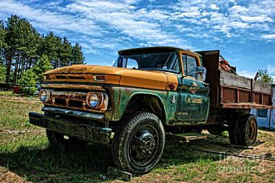 Chevy Dump Truck 2 Art Print by Karen Walker