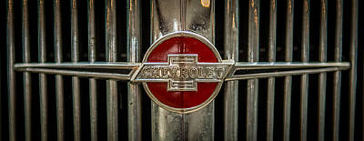 Classic Chev Photograph - Chevy Emblem by Paul Freidlund