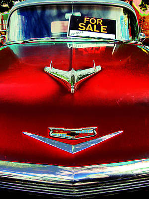 Photograph - Chevy For Sale by Colleen Kammerer