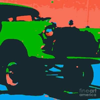 Digital Art - Chevy Gasser by James Eye
