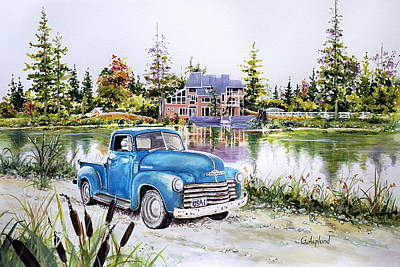Painting - Chevy by Gertrudes  Asplund