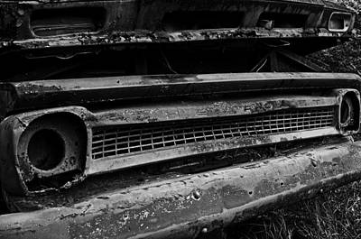 Cemetery Photograph - Chevy Grill by Andy Crawford