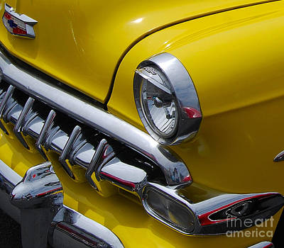Photograph - Chevy Grill Closeup by Mark Spearman