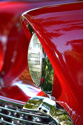 Photograph - Chevy Headlight by Dean Ferreira