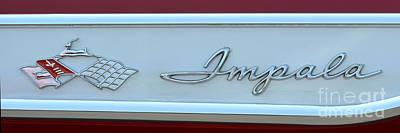 Photograph - Chevy Impala Badge by Mark Spearman