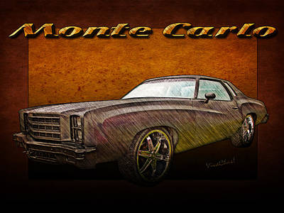 Chevy Monte Carlo Poster Art Print
