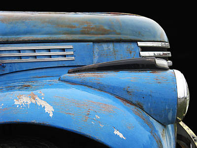 Photograph - Chevy Pick-up - 1942 Blue by Larry Hunter