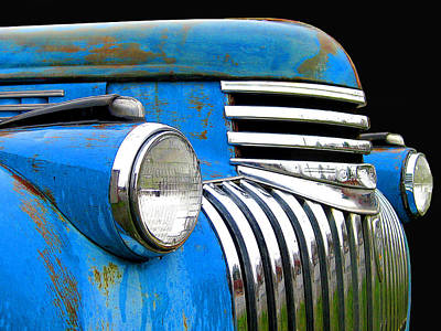 Photograph - Chevy Pick-up - 1942 Bright Blue by Larry Hunter
