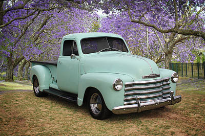 Print featuring the photograph Chevy Pickup by Keith Hawley