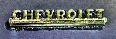 Frisco Colorado Photograph - Chevy Pickup Truck Fender Emblem by Ken Smith