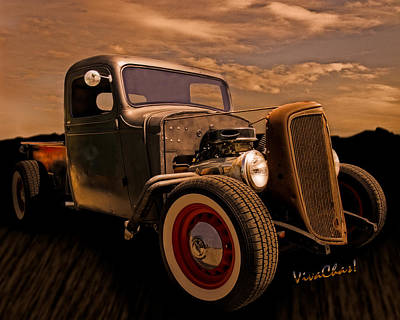Chevy Rat Rod Pickup 1936 Art Print