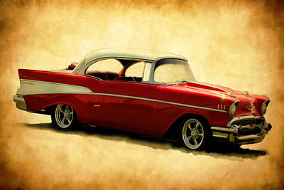 Photograph - Chevy Red by Athena Mckinzie