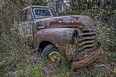 Photograph - Chevy Rust Bucket by Andy Crawford