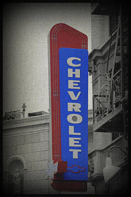 Photograph - Chevy Sign by Laurie Perry