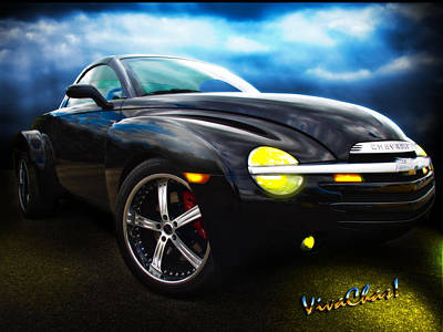 Chevy Ssr Night Life Hot Rods Live Lives All Their Own Art Print