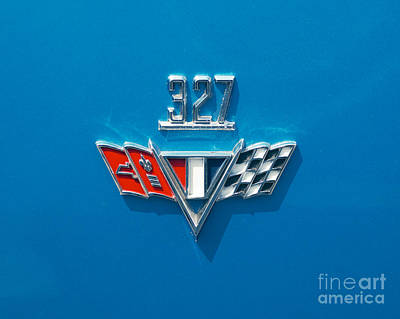 Photograph - Chevy Super Sport II 327 Emblem by Mark Dodd