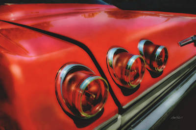 Digital Art - Chevy Tail Lights by Ann Powell