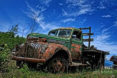 Chevy Truck 4 Art Print by Karen Walker