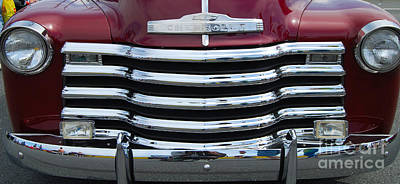 Photograph - Chevy Truck Grill by Mark Spearman