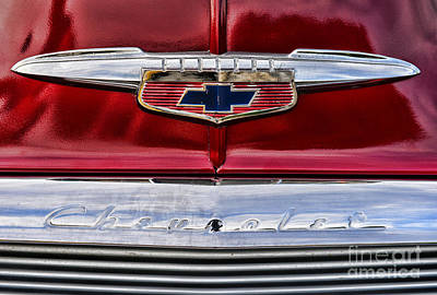 Red Chevrolet Photograph - Chevy Truck Logo Vintage by Paul Ward