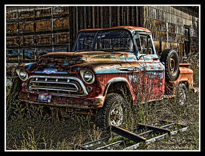 Photograph - Chevy Truck by Ron Roberts