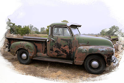 Photograph - Chevy Truck Still Working by Judy Deist