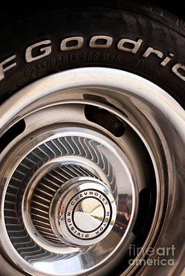 Chevy Wheel Art Print by Rick Piper Photography