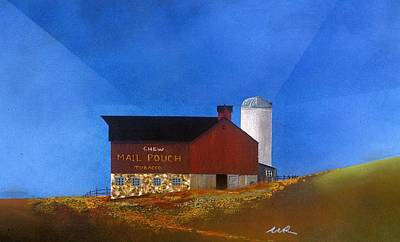 Mail Pouch Barn Painting - Chew Mail Pouch by William Renzulli