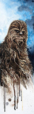 War Painting - Chewbacca by David Kraig