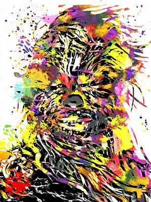 Chewbacca Painting - Chewbacca Star Wars by Daniel Janda