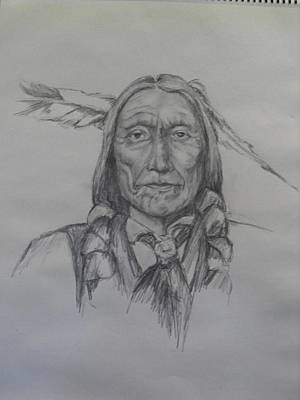 Drawing - Cheyenne Chief by Clifford Brown
