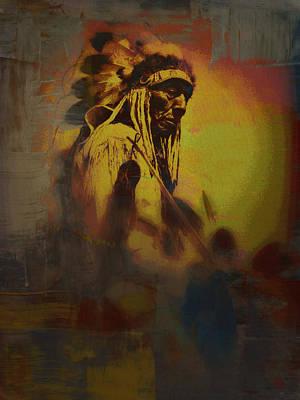 Digital Art - Cheyenne Chief Revisited by Ben Freeman