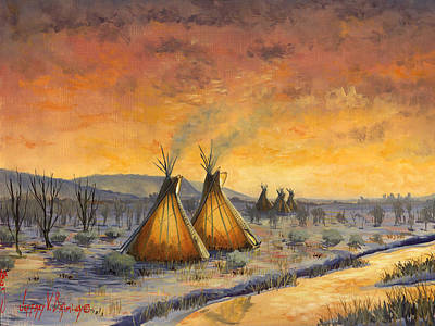 Painting - Cheyenne Comfort by Jeff Brimley