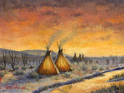 Painting - Cheyenne Comfort by Jeff Brimley