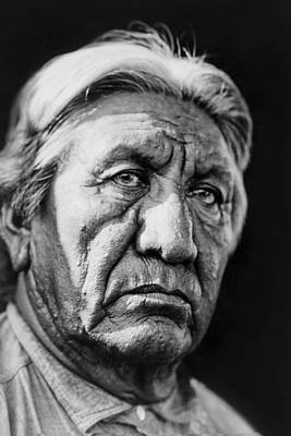 Gray Hair Photograph - Cheyenne Indian Man Circa 1927 by Aged Pixel