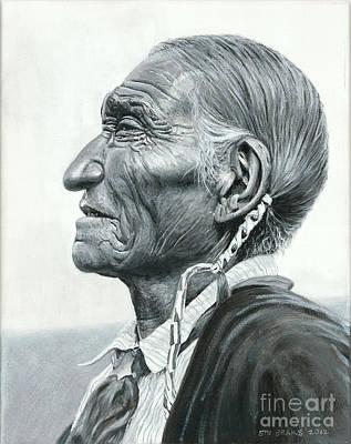 Native American Art Painting - Cheyenne Leader by Stu Braks