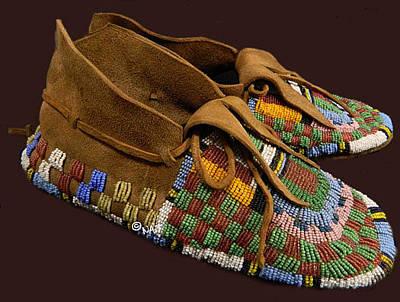 Arapaho Mixed Media - Cheyenne Moccasins by Native Arts Trading