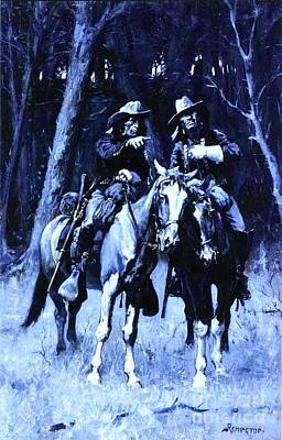 Painting - Cheyenne Scouts  by Pg Reproductions